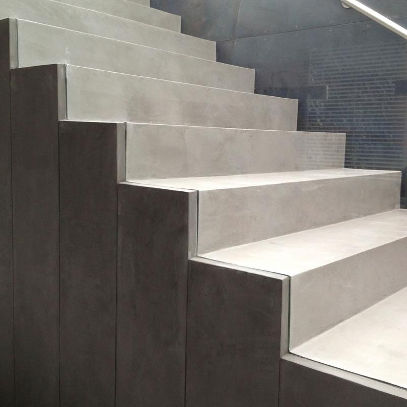 Escaleras 04 mibuti microcemento revestimientos dise o interior y mobiliario - Revestimiento para escaleras ...